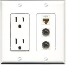 RiteAV  15 Amp Power Outlet 2 Port 3.5mm 1 Port Cat6 Ethernet Ethernet W... - $27.76