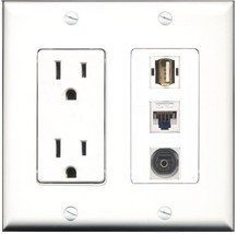 RiteAV  15 Amp Power Outlet 1 Port USB A-A 1 Port Toslink 1 Port Cat5e E... - $28.04