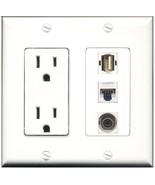 RiteAV  15 Amp Power Outlet 1 Port USB A-A 1 Port 3.5mm 1 Port Cat5e Eth... - $28.04
