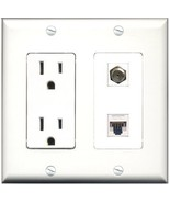 RiteAV  15 Amp Power Outlet - Coax Cable TV- F-Type - Cat5... - $28.04