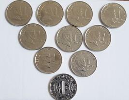 10 pcs 2004 Philippine 1 Piso Coins Jose Rizal / Bangko Sentral Ng Pilip... - $1.95