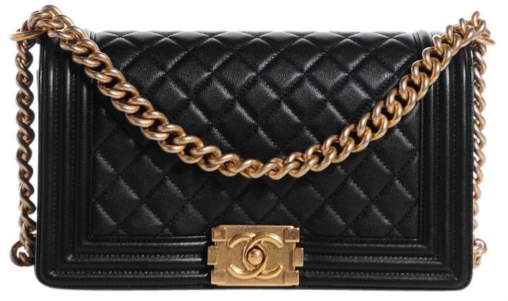 65d80e9008d0 NEW AUTHENTIC Chanel 2016 Quilted Calfskin Medium Boy Bag Black GHW ...