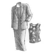 Great Copy 815 Silhouette Top/Dress & Three Button Jacket Sewing Pattern - $5.97