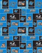 Package Short Pieces Grand Valley State GVSU College Fleece Fabric Print D004.71 - $9.58