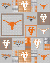 Package of Short Pieces University of Texas 158 Grey Fleece Fabric Print D004.36 - $11.36
