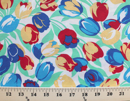 "Cotton Blend Tulip Floral 60"" Wide Fabric by the Yard D343.09 - $6.99"