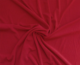 "Slinky Nylon Spandex Blend 58"" Wide Fabric by the Yard - Red - D446.03 - $9.95"