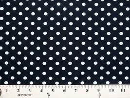 I.T.Y® Original Design Matte' Jersey Black White Dot Fabric Print BTY - D453.13 - $8.99
