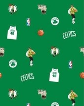 Package of Short Pieces Boston Celtics NBA Green Fleece Fabric Print D004.07 - $16.84