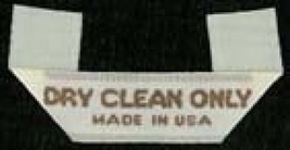 """Garment Labels """"Dry Clean Only"""" Cloth Sew-in Labels - $2.94+"""