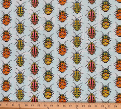 Cotton Lady Bugs Beetles Insects Cotton Fabric Print by the Yard D485.25 - $10.95