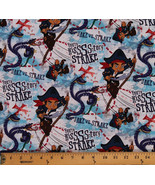 Cotton Jake Pirate Snake Danger From the Deep Cartoons Fabric by the yd. D473.12 - $5.97