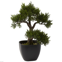 "15"" Cedar Bonsai Tree  Artificial  Free Shipping  Nearly Natural 4966 - $45.99"