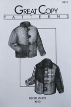 Great Copy 810 Pieced Jacket Sewing Pattern (Pattern Only) - $10.00