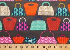 Cotton Purses Bags Clutch Tote Bag Pouch Shop Fashion Fabric Print BTY D... - $12.49