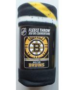 "NHL Boston Bruins Hockey Sports Team 50"" X 60"" Fleece Fabric Throw - $17.97"