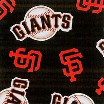 Package of Short Pieces San Francisco Giants Black Fleece Fabric Print D004.59 - $17.43