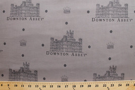 Downton Abbey Dots Main Print Gray Cotton Fabric Print by the Yard D778.35 - $7.95