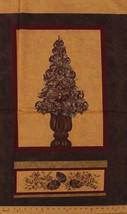 "24"" X 44"" Panel Vase of Berries Leaves Pine Cones Cotton Fabric Panel D480.05 - $6.63"