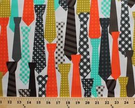 Cotton Cotton Ties Necktie Clothing Men's Boys Fashion Fabric Print BTY ... - $10.92