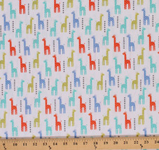 Cotton Baby Mini Giraffes Animals Cotton Fabric Print by the Yard D485.23 - $205,24 MXN