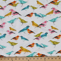 Cotton Birdies Flutter Animal Cotton Fabric Print by the Yard D485.17 - $11.49