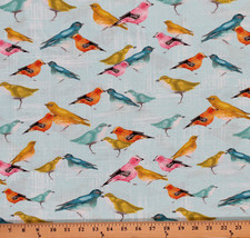 Cotton Birdies Flutter Animals Cotton Fabric Print by the Yard D485.16 - $11.49