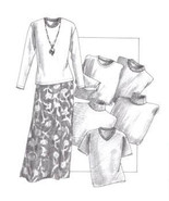 Great Copy 420 Pullovers and A-Shaped Skirt Sewing Pattern (Pattern Only) - $5.97