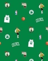 Package of Short Pieces Boston Celtics NBA Green Fleece Fabric Print D005.79 - $18.30