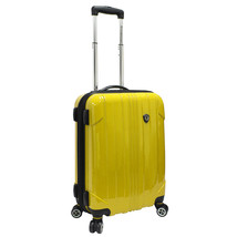 """Travelers Choice Yellow Sedona Polycarbonate 21"""" Carry-on Spinner Travel... - $79.19"""