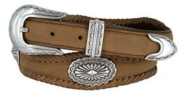 Arizona Southwestern Conchos Western Leather Scalloped Belt Brown 34 - $43.50