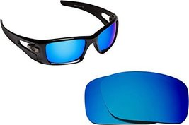 New SEEK OPTICS Replacement Lenses Oakley CRANKCASE - Polarized Blue Mirror - $21.27