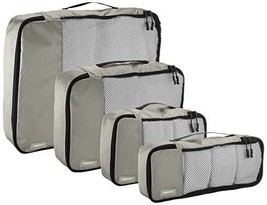 4 Piece Packing Cube Set - Small, Medium, Large, and Slim, Gray - $1.142,60 MXN