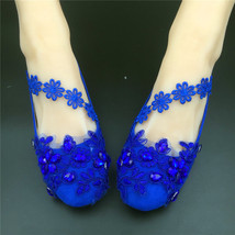 RoyalBlue Bridesmaids Shoes,Bridal Shoes,Something Blue Wedding,wedding flats - $48.00