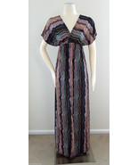 SHORELINE Maxi Dress Surplice Neckline Blue Purple Cruise Party Size S/M - $14.95
