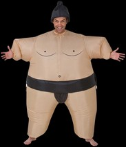 Funny SUMO WRESTLER INFLATABLE BODY INSTANT COSTUME w-Airblown Fan-Unise... - $59.37
