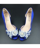 Low Heels Royalblue Lace Wedding Shoes/Blue Bridals Heels/Evening Party ... - $89.50 CAD