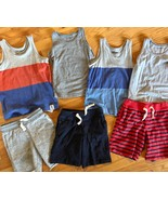 BABY GAP Tank Top + Knit Pull On Shorts Lot of 7 - Summer Outfits Blue G... - $42.57