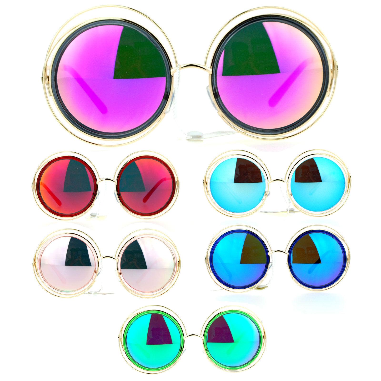 dcef7afa828c3 S l1600. S l1600. Previous. SA106 Double Scribble Frame Round Circle  Mirrored Lens Retro Sunglasses. SA106 Double Scribble Frame ...