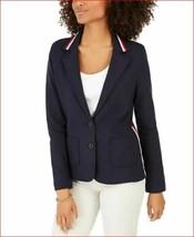 new TOMMY HILFIGER women jacket sweater blazer J02E0355 navy blue sz M - $47.26