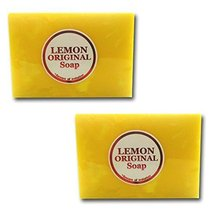 Lemon Exfoliating Sulfur Glutathione Soap for Acne Lightening Whiteing Bleach... - $9.94