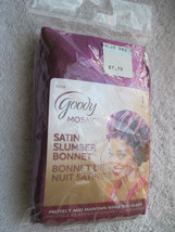 Goody Mosaic Purple Soft Satin Slumber Bonnet Cap Protect Hair Maintain Sleep - $10.00