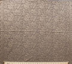 "40"" x 36"" Lace Panel Gold Metallic Scalloped Edges Tan Fabric Panel D168.10 - $9.97"