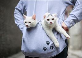 Kawaii Clothing Hoodie Sweatshirt Cat Dog Pet Pocket Harajuku Mouse Kangaroo - $25.50