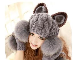 Kawaii Clothing Ropa Cute Hat Beanie Gorro Cat Ears Harajuku Japan Korea Animal - $13.28
