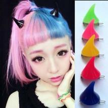 Kawaii Clothing 2PCs Horns Cuernos Hairpin Demon Punk Harajuku Japanese Korean - $8.21