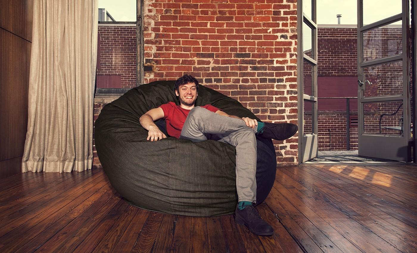 Cool Jaxx 6 Ft Cocoon Bean Bag Denim And 50 Similar Items Andrewgaddart Wooden Chair Designs For Living Room Andrewgaddartcom