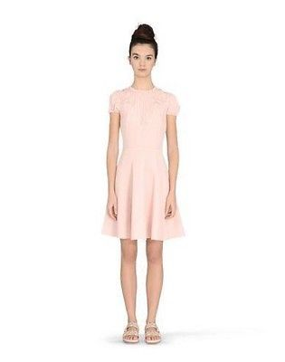 2015 New Auth Red Valentino Bow Detail Crepe Dress In  Quartz Or Blue Us $750 by Red Valentino