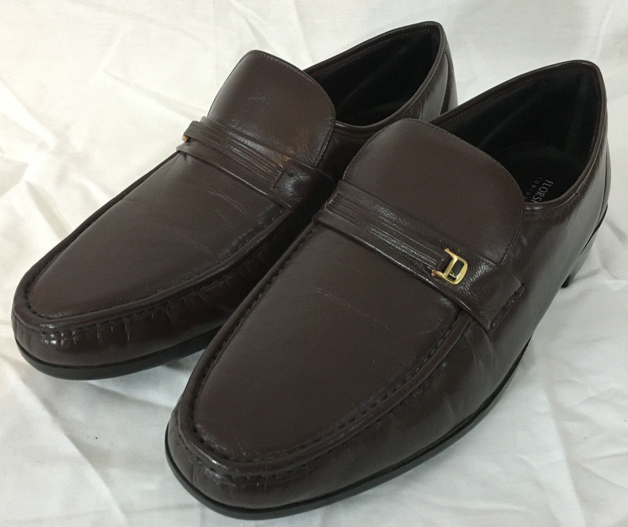 8a066f96b91 57. 57. Previous. Florsheim Comfortech Brown Leather Penny Loafers Men s  Size ...