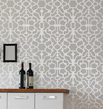 Wall Stencil Vision, DIY Reusable wallpaper stencil money saving decor - $39.95